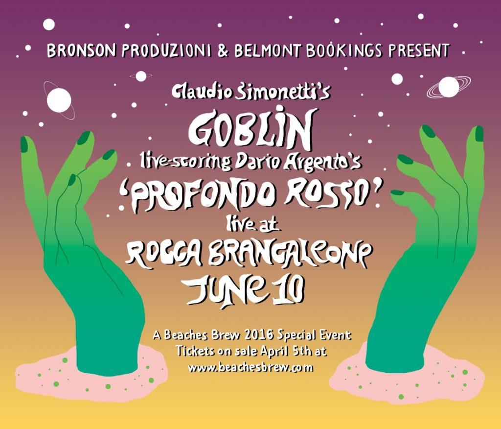"""ASCOLTARE LA COLONNA SONORA DI """"PROFONDO ROSSO"""" DAL VIVO AL BEACHES BREW 2016"""