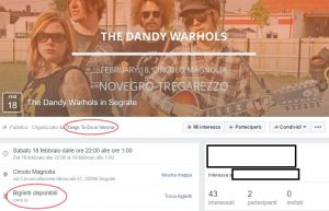 facebook eventi fake