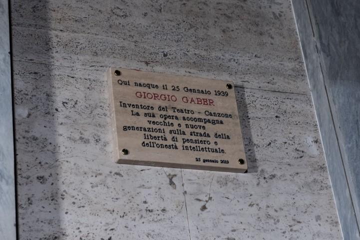 Giorgio Gaber targa